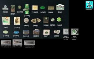 SKODA verschiedene Abzeichen Pins 1990er bis 2010er Jahre AUSSUCHEN