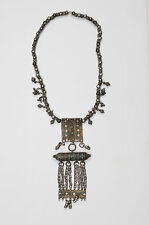 Antique Ethnic Oriental Silver and Turquoise Necklace