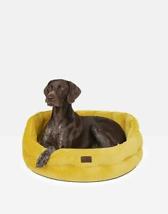 Joules Home Large Velvet Pet Bed - Gold - One Size