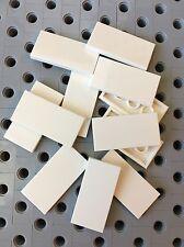 Lego White 2x4 Flat Tiles Smooth Finishing Tile MODULAR BUILDINGS New Lot Of 12