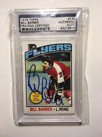 1976 Topps Bill Barber Philadelphia Flyers PSA/DNA Certified Autograph Card #178