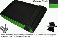 GREEN & BLACK CUSTOM FITS KAWASAKI KR1 KR1S 250 88-90 REAR LEATHER SEAT COVER