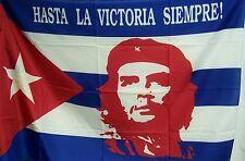 BANDIERA POLIESTERE ECONOMICA CHE GUEVARA E CUBA FLAG HASTA LA VICTORIA SIEMPRE