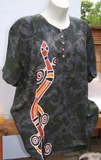 T Shirt Bluse Unikate wie Seide Aborigines AUSTRALIEN Schlange