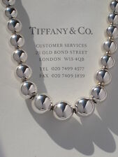 Tiffany & Co Sterling Silver Graduated Bead Necklace 16 Inch