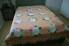ANTIQUE Dresden Plate Rescue QUILT Calico FEEDSACK Pretty PASTEL Expert Quilting