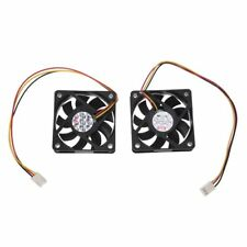60mm 6cm DC 12V 3 Pin Computer Case CPU Cooler Cooling Fan Black 2 Pcs V6I7 R1V7