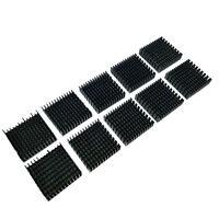 US Stock 10pcs 40 x 40 x 11mm Heat Sink Cooling Aluminum Heatsink CPU IC LED