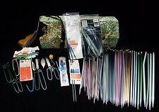 Lot of 50+ Vintage Knitting Needles Circular Susan Bates Boye Hero Zephr w/Case