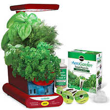 Miracle-Gro AeroGarden Sprout with Gourmet Herb Sprout Seed Pod Kit Red NIB