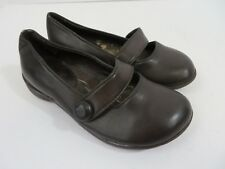 Sam & Libby Little Girls Shoes Slip On Elastic Strap Brown Size 11M  #708