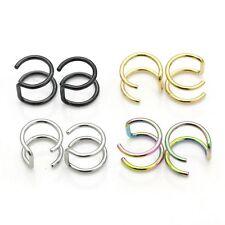 Ohrring Ohrbügel Ohrklemme Ohr Clip Ear Cuff Gold 2 Stück Statement Trend