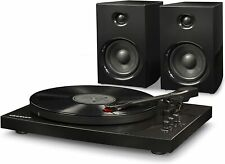 New listing  Crosley T100D 2-Speed Bluetooth Turntable System with Stereo Speakers, Black, (M
