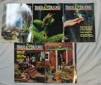 Lot of 5 Birds & Blooms Magazines from the year 2000, Good condition