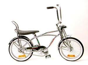 "NEW  20"" Lowrider Beach Cruiser Complete W/ 68 spoke Bike Bicycle Chrome"