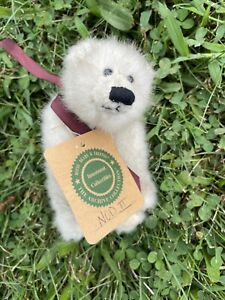 "Boyds Bears NOD II 8"" White Plush Polar Bear Stuffed Animal All Tags"