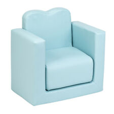 Multi-functional Kids Armchair Sofa Table & Chair Set Furniture Living Room Blue