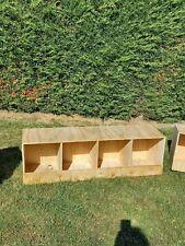 nid de poule ou pigeon en bois casier pondoir en bois 4 compartiment