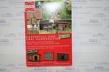 Busch 1522, Hasenstall und 2 Hundehütten, neu, OVP, Garten, Tiere, Stall