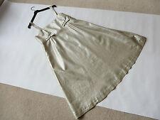 Linen Patternless Empire line Dresses for Women