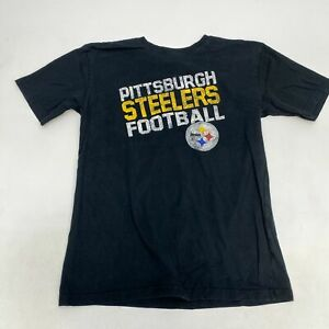 Reebok Pittsburgh Steelers Football T Shirt Youth XL Short Sleeve Black Cotton