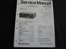 Original Service Manual Technics RS-X301