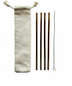 Reseller lot of 60 straws (15 packets) Eco Stainless Steel Straws 4 in each pkg