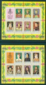 GRENADA*1984* 6 M/Sheets (7 stamps)*MNH** Kings & Queens - Mi.No BL119-124