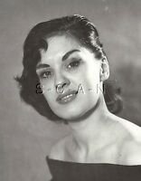 Original Vintage 1940s-60s Semi Nude RP- Detroit- Attractive Brunette- Model
