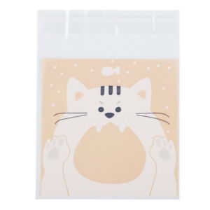 100Pcs Self Adhesive Cookie Bag Cellophane Party Birthday Candy Package Gift Bag