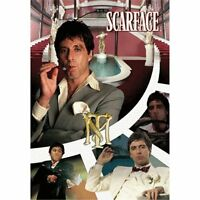 Scarface Mansion Tony Montana The World Is Yours 3D Effekt Poster 47x67cm