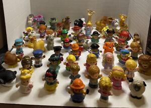 LOT OF (10) Random Fisher Price Little People Figures & Animals - No Duplicates!