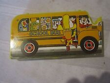 Vintage Kellogg's School Bus Pencil Case Box 70's - Complete and Unused