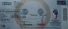 TICKET SKY BOX Hockey su ghiaccio WM 14.5.2015 Canada-Bielorussia a Praga