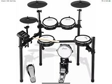 More details for donner ded-200 electric drum nitro mesh kit 8 piece electronic drum set with mes