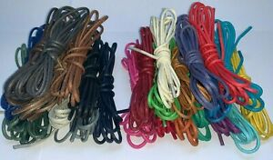 2 mm PREMIUM QUALITY THIN WAXED COTTON SHOE LACES FOR LEATHER SHOES / BROGUES
