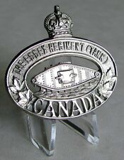 Canadian Army - The Essex Regiment ( Tank ) Cap Badge Windsor - ON WWII WW2