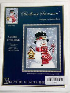 Kustom Krafts - Birdhouse Snowman - Cross Stitch Pattern