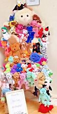 Original TY BEANIE BABIES Designer Chair w/ 75+ Collectibles! Full Size!