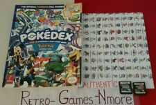 Pokemon DS Lot Diamond & Pearl Versions AUTHENTIC Nintendo Carts & Guide Only