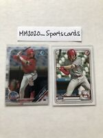 Alec Bohm Bowman Lot (2) 2019 Chrome #BCP-163 & 2020 #BP-29 Phillies