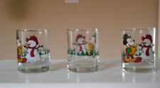 New listing Three Anchor Hocking Holiday Winter Christmas Mickey Mouse Votive Candleholders