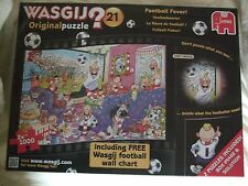 New Wasgij 21 Football Fever  2 x 1000 piece jigsaw puzzles