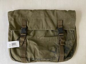OAKLEY Canvas Messenger Bag Olive Army Green w/ Removable Strap