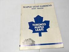 VTG 1972 MAPLE LEAF GARDENS TORONTO MAPLE LEAFS MAGAZINE VS BUFFALO SABRES