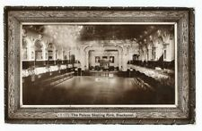 SKATING ICE RINK PALACE BLACKPOOL RARE REAL PHOTO POSTCARD 1909
