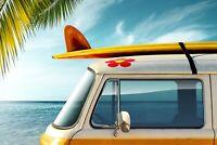 A1   Cool Surf Bus Poster Art Print 60 x 90cm 180gsm Camper Beach Van Gift #8200