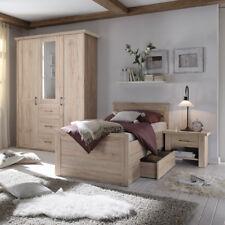 Komfort Schlafzimmer Luca Komfortzimmer Set Eiche San Remo mit Spiegel 3-teilig