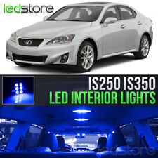 2006-2013 Lexus IS250 IS350 Blue LED Lights Interior Kit Package Bulbs