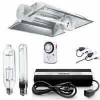 iPower 600W HPS MH Grow Light Kit Cool Tube Wing Cool Tube Reflector Hood Set